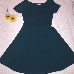 Charlotte Russe Short-Sleeved Skater Dress